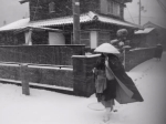 Takuhatsu in the snow